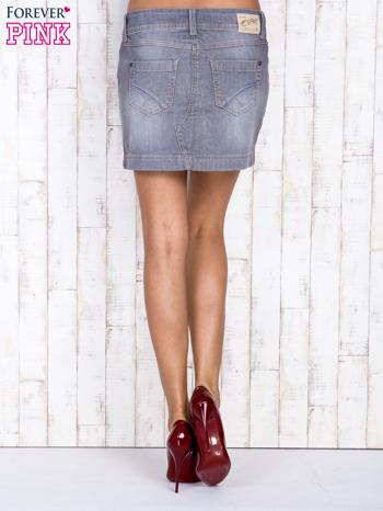 Szara jeansowa spódnica mini                                  zdj.                                  4