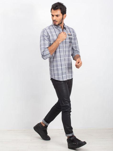 Szara koszula męska Upgrade                              zdj.                              4