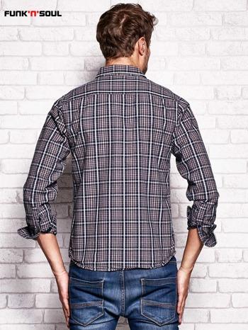 Szara koszula męska w kratę FUNK N SOUL