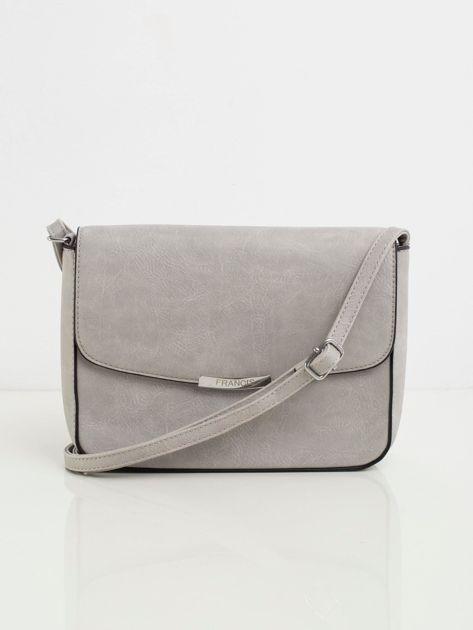 Szara listonoszka faux leather