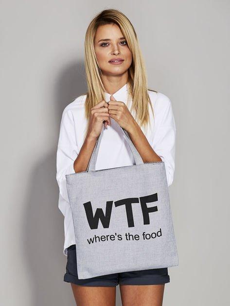 Szara materiałowa torba WTF                              zdj.                              1