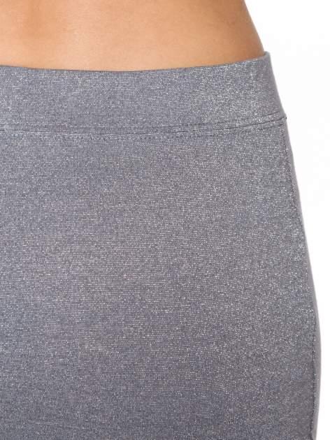 Szara mini spódniczka przeplatana srebrną nicią                                  zdj.                                  6