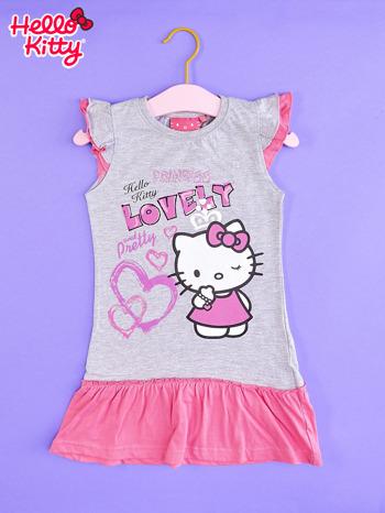 Szara sukienka dla dziewczynki HELLO KITTY                                  zdj.                                  1