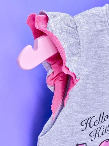 Szara sukienka dla dziewczynki HELLO KITTY                                  zdj.                                  6