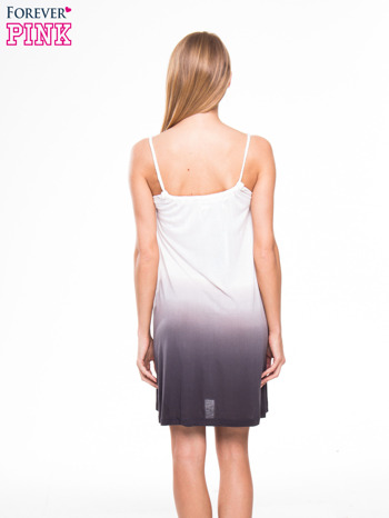 Szara sukienka na ramiączka z efektem ombre                                  zdj.                                  3