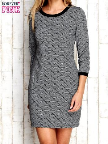 Szara sukienka z motywem plecionki                                  zdj.                                  1