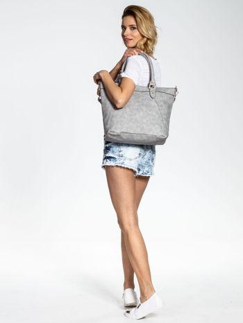Szara torba city bag na ramię                                  zdj.                                  6