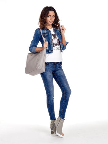 Szara torba shopper bag                                  zdj.                                  12