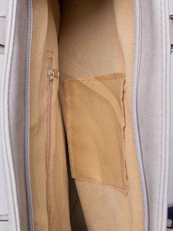 Szara torba shopper bag z zawieszką                                  zdj.                                  4