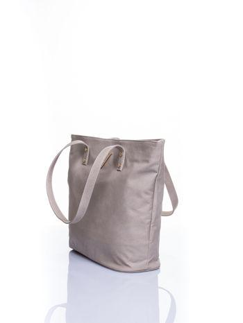 Szara torba ze złotym detalem                                  zdj.                                  4
