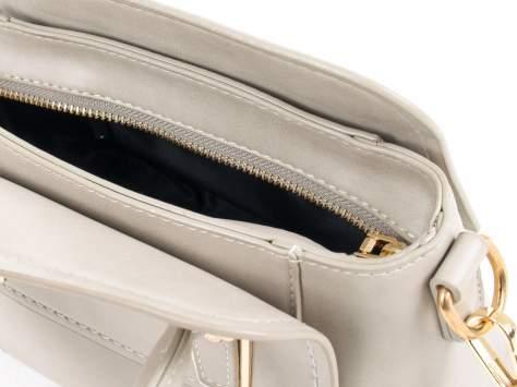 Szara torebka kuferek z odpinanym paskiem                                  zdj.                                  9