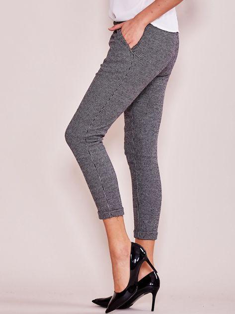 Szare bawełniane spodnie 7/8 z kieszeniami                              zdj.                              3