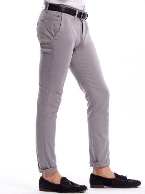 Szare bawełniane spodnie męskie chinosy                               zdj.                              13