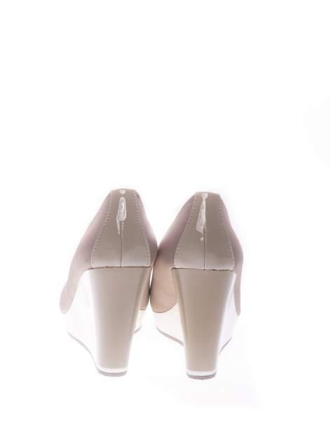 Szare buty na koturnie w sportowym stylu                                  zdj.                                  3