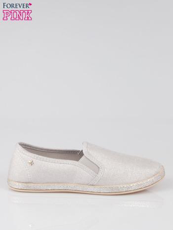 Szare buty slip-on