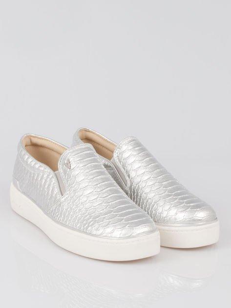Szare buty sliponki glitter                                  zdj.                                  2