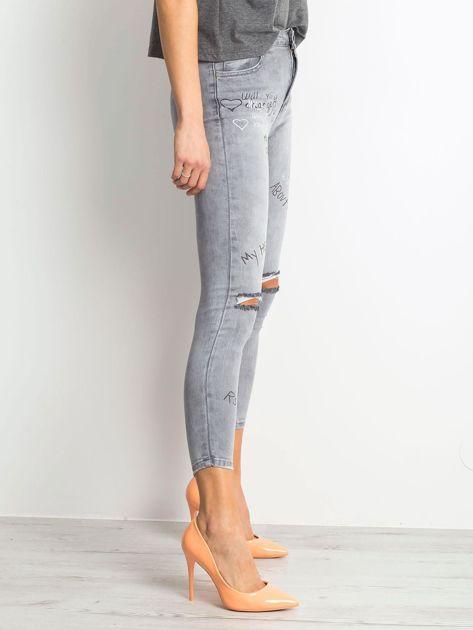 Szare jeansy Chambray                              zdj.                              3