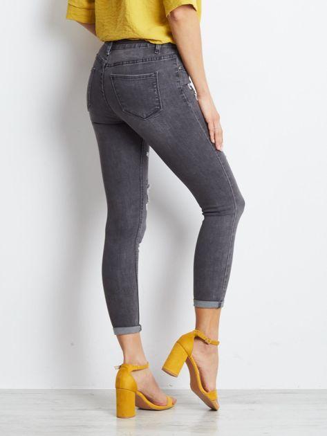 Szare jeansy Crossline                              zdj.                              2