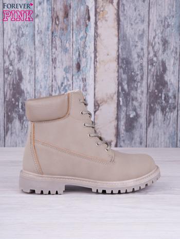 Szare jednolite buty trekkingowe Elyia damskie traperki ocieplane                                  zdj.                                  1