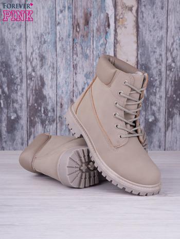 Szare jednolite buty trekkingowe Elyia damskie traperki ocieplane                              zdj.                              3