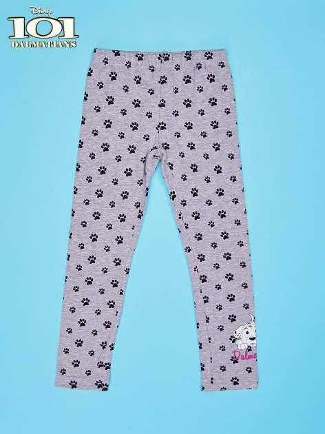 Szare legginsy dla dziewczynki motyw 101 DALMATYŃCZYKÓW