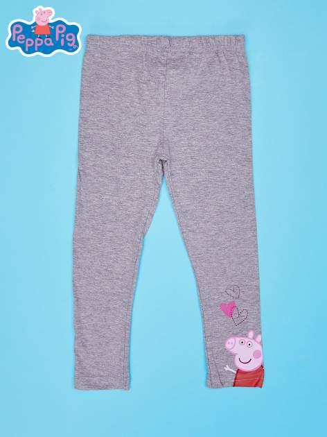 Szare legginsy dla dziewczynki motyw ŚWINKA PEPPA