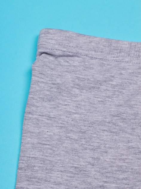 Szare legginsy dla dziewczynki nadruk ŚWINKA PEPPA                                  zdj.                                  4