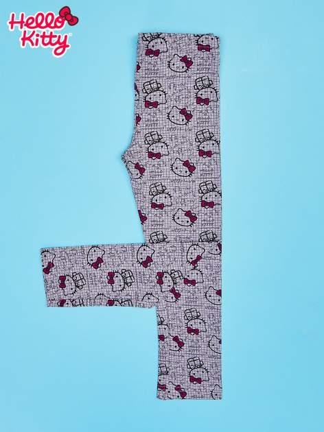 Szare legginsy dla dziewczynki z nadrukiem HELLO KITTY                                  zdj.                                  2