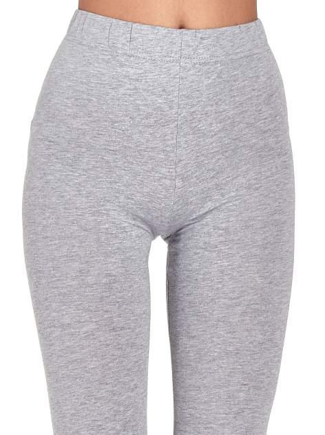 Szare melanżowe legginsy damskie basic                                  zdj.                                  5