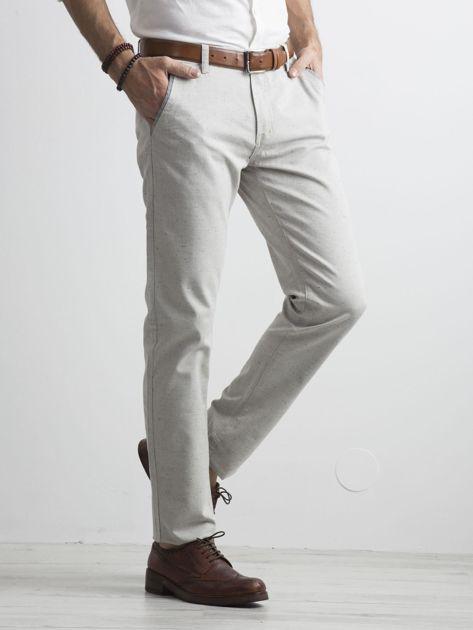 Szare męskie spodnie chino                              zdj.                              3