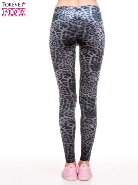 Szare panterkowe legginsy z welwetu                                  zdj.                                  4
