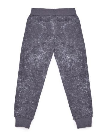 Szare spodnie dresowe dla dziewczynki z nadrukiem