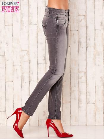 Szare spodnie regular jeans                                  zdj.                                  3