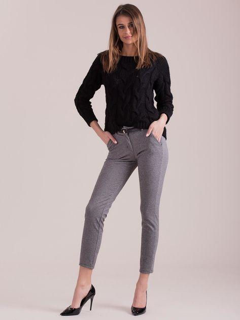 Szare spodnie w drobny wzór                              zdj.                              4