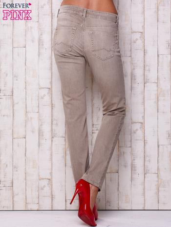 Szare spodnie z prostą nogawką                                  zdj.                                  2