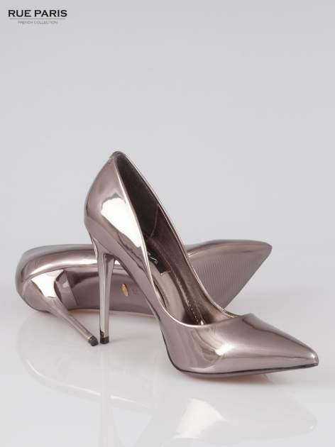 Szare szpilki metaliczne Mirror Heels                                  zdj.                                  4