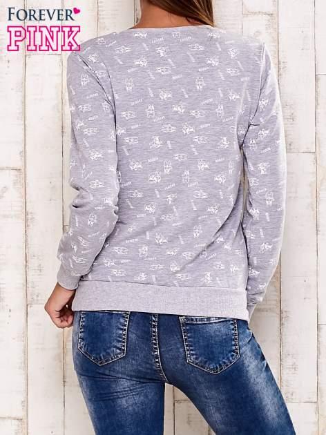 Szaro-biała bluza motyw buldożków                                  zdj.                                  2