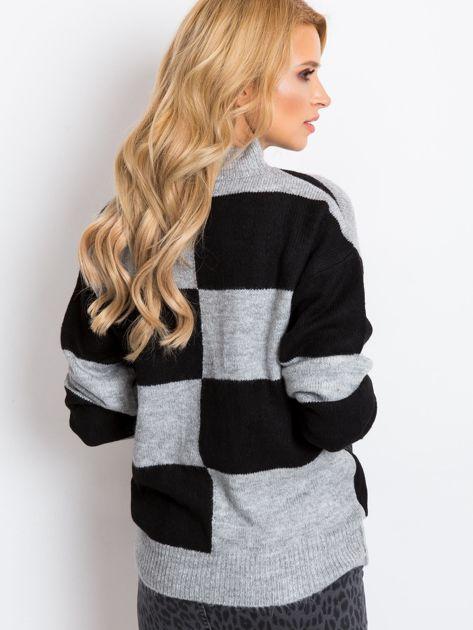 Szaro-czarny sweter Francesca                              zdj.                              2