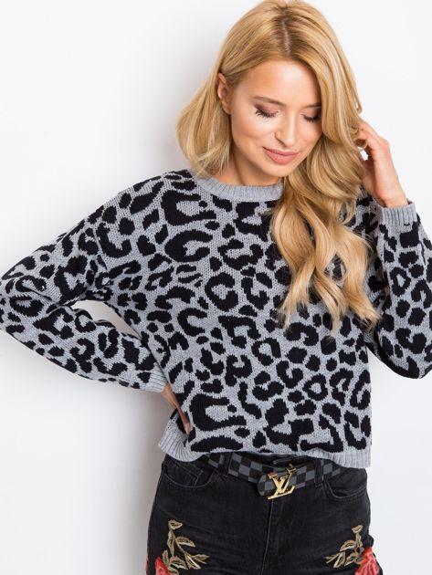 Szaro-czarny sweter Jacky                              zdj.                              1