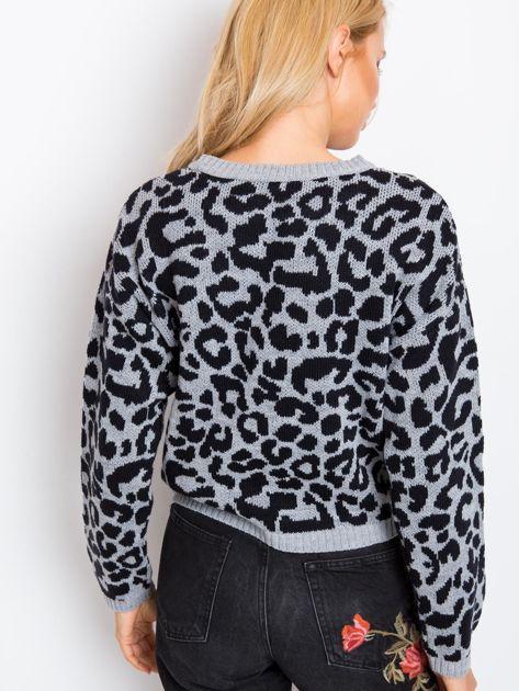 Szaro-czarny sweter Jacky                              zdj.                              2