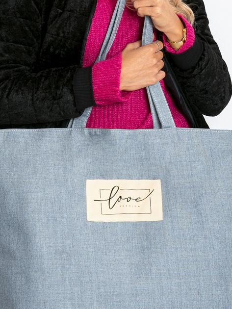 Szaro-niebieska duża uniwersalna torba                              zdj.                              9