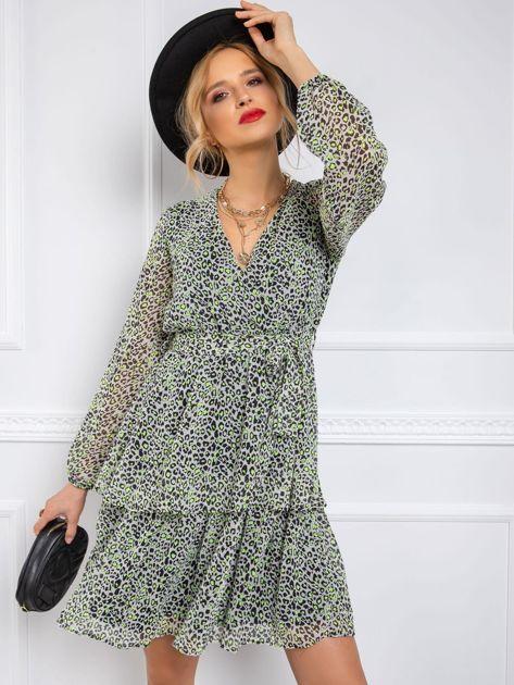 Szaro-zielona sukienka Bernadette RUE PARIS