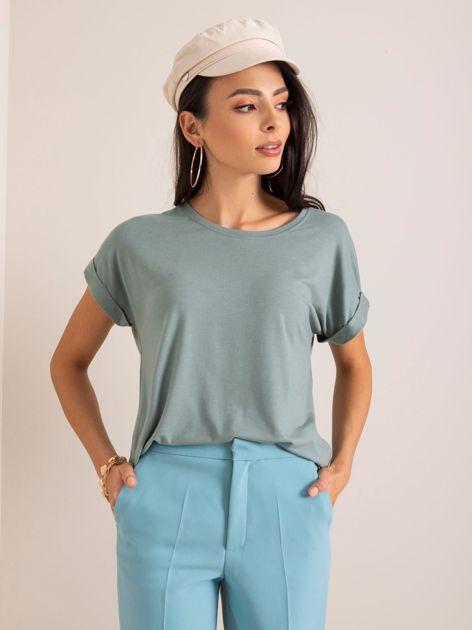 Szaro-zielony t-shirt Ariane RUE PARIS