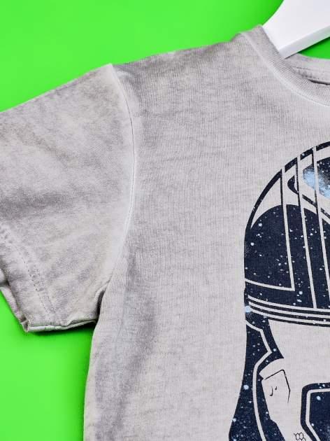 Szary dekatyzowany t-shirt chłopięcy STAR WARS                                  zdj.                                  3