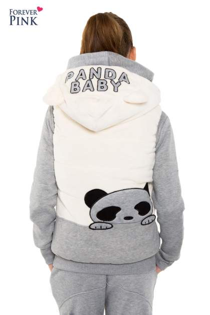 Szary dresowy komplet z motywem pandy                                  zdj.                                  13