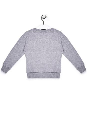 Szary komplet dla dziewczynki bluza i spodnie                              zdj.                              3