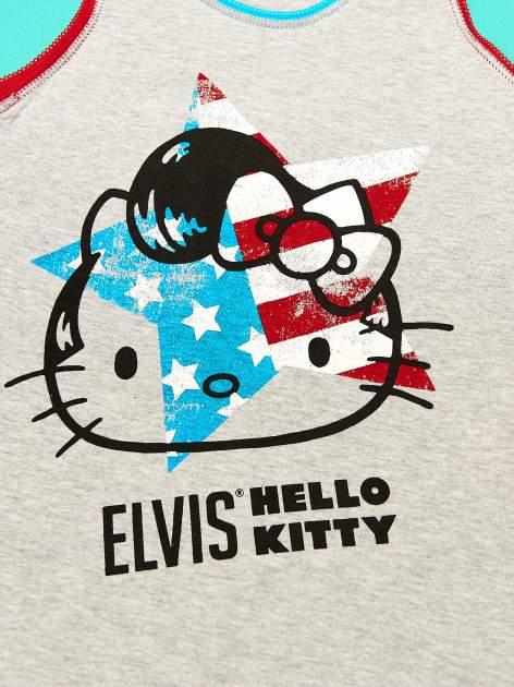 Szary komplet do spania dla dziewczynki z nadrukiem ELVIS HELLO KITTY                                  zdj.                                  8