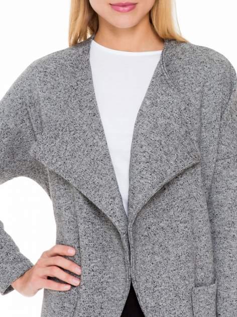 Szary melanżowy bluzożakiet z kieszeniami                                  zdj.                                  5