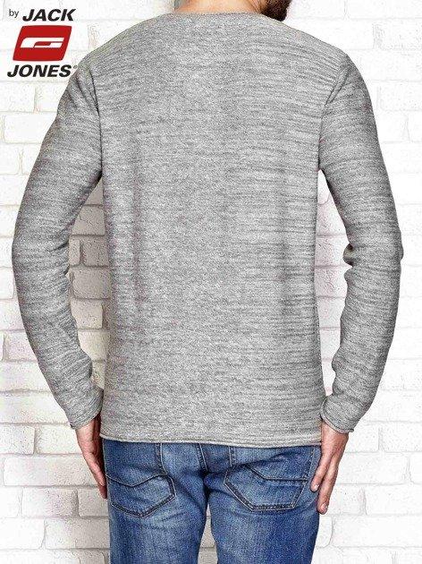Szary melanżowy sweter męski