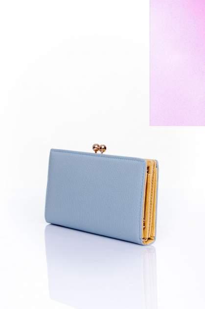 Szary portfel z biglem efekt saffiano                                   zdj.                                  2